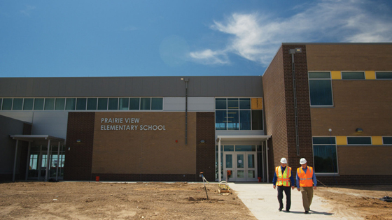 BCS Employees Outside of Prarie View Elementary School